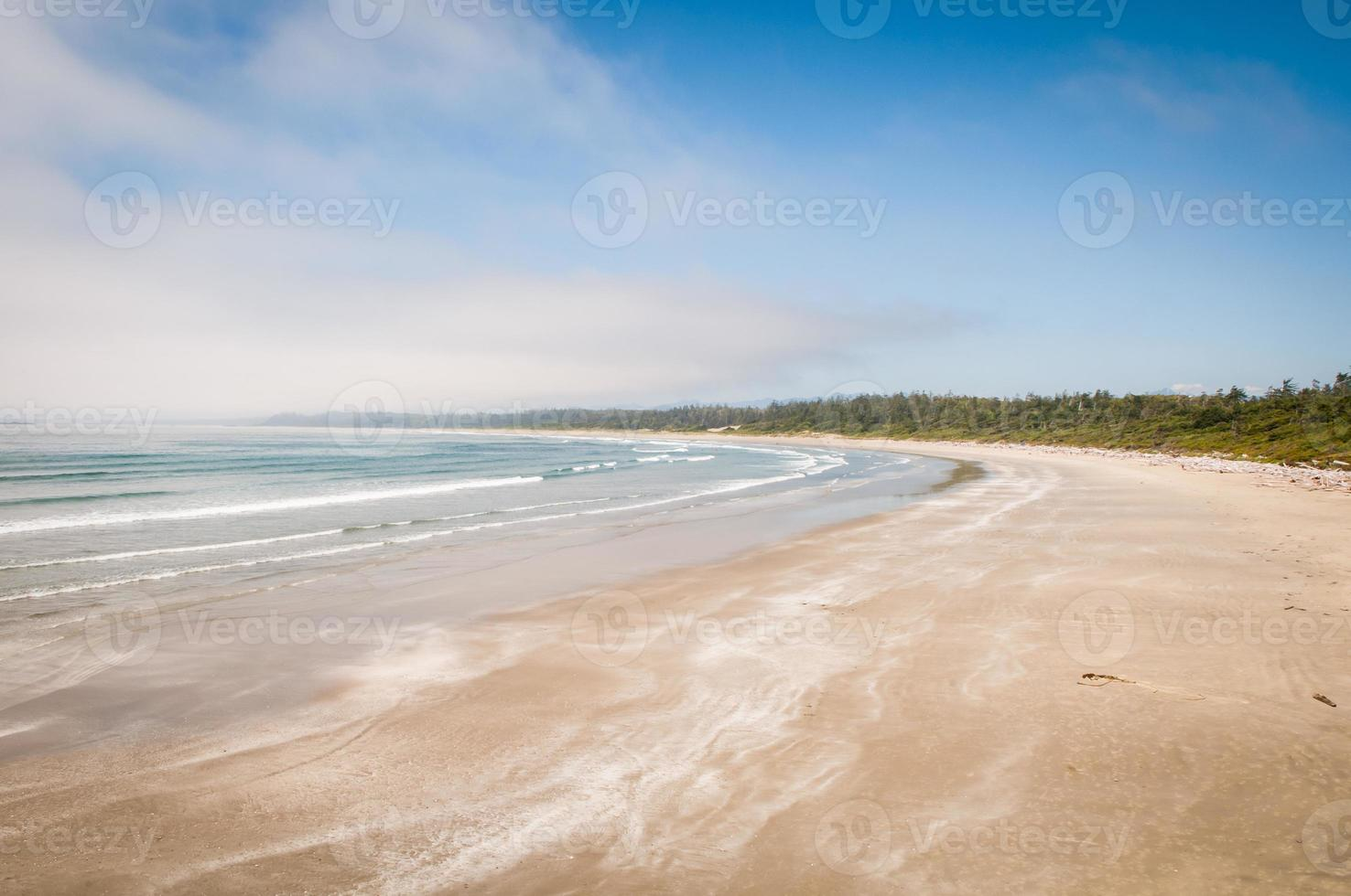 lång strand, tofino, vancouver ö foto