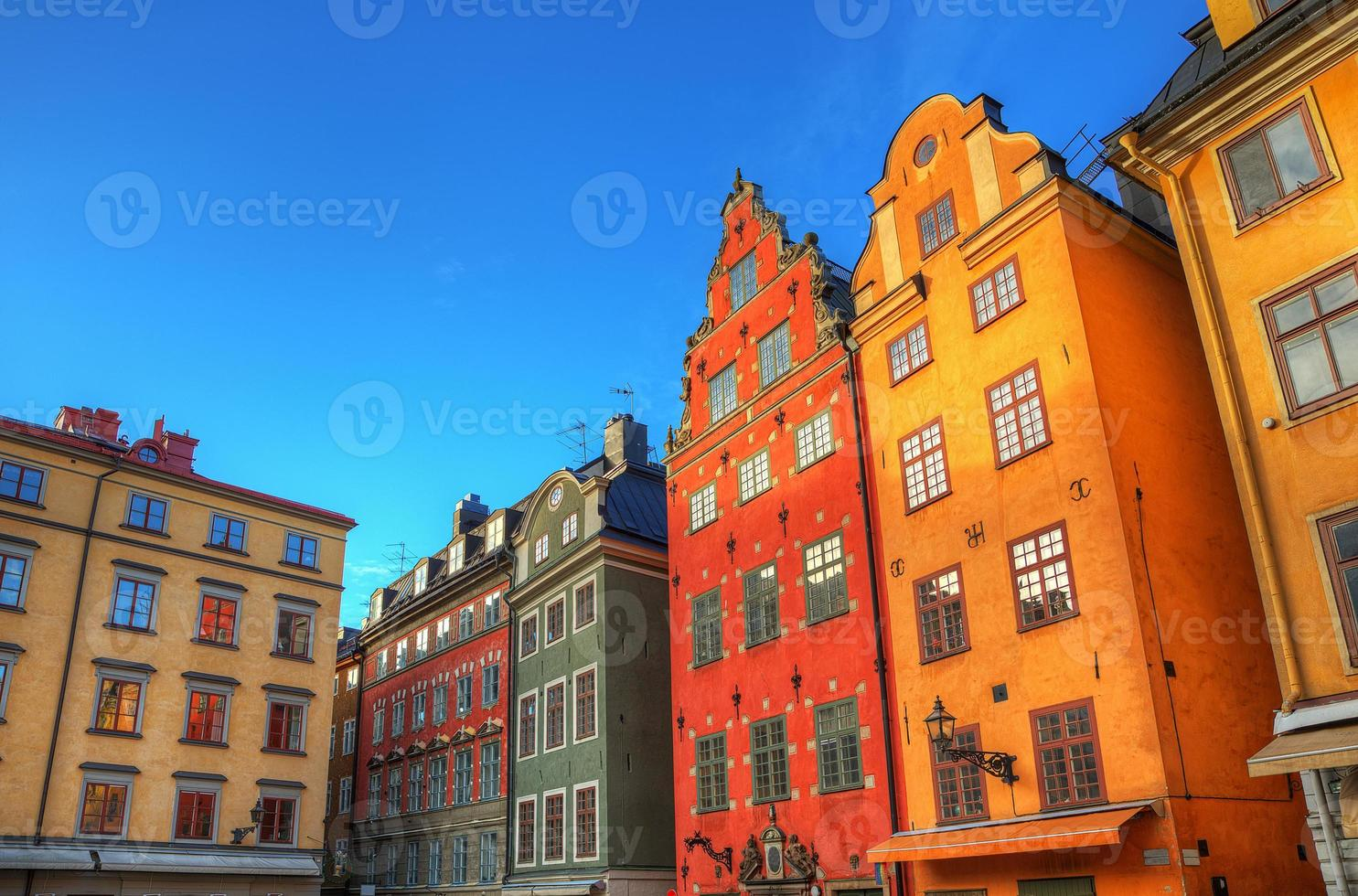 stortorget gamla stan stockholm, hdr image.e. foto