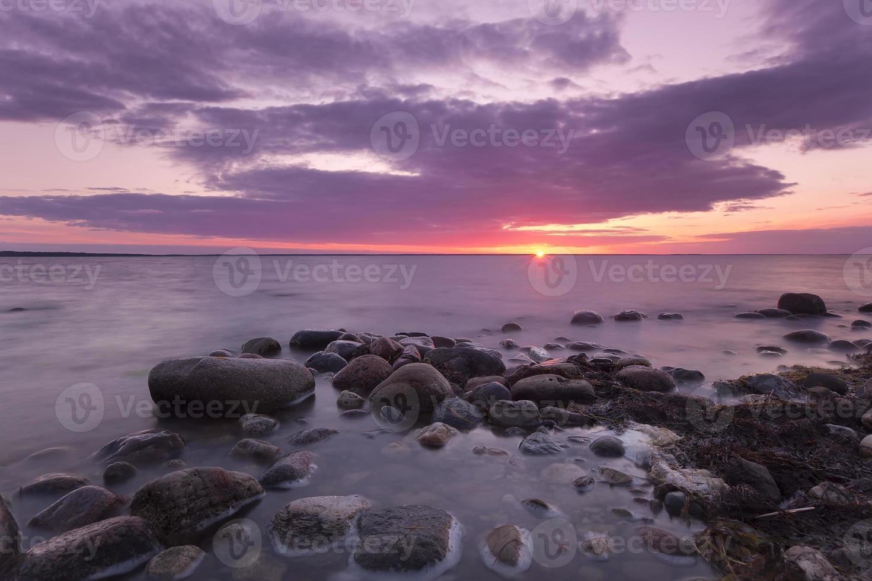 den vackra scenen för solnedgången foto