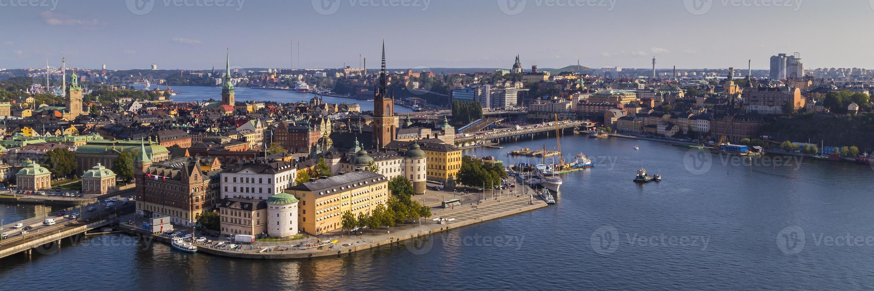 utsikt över gamla stan i stockholm foto