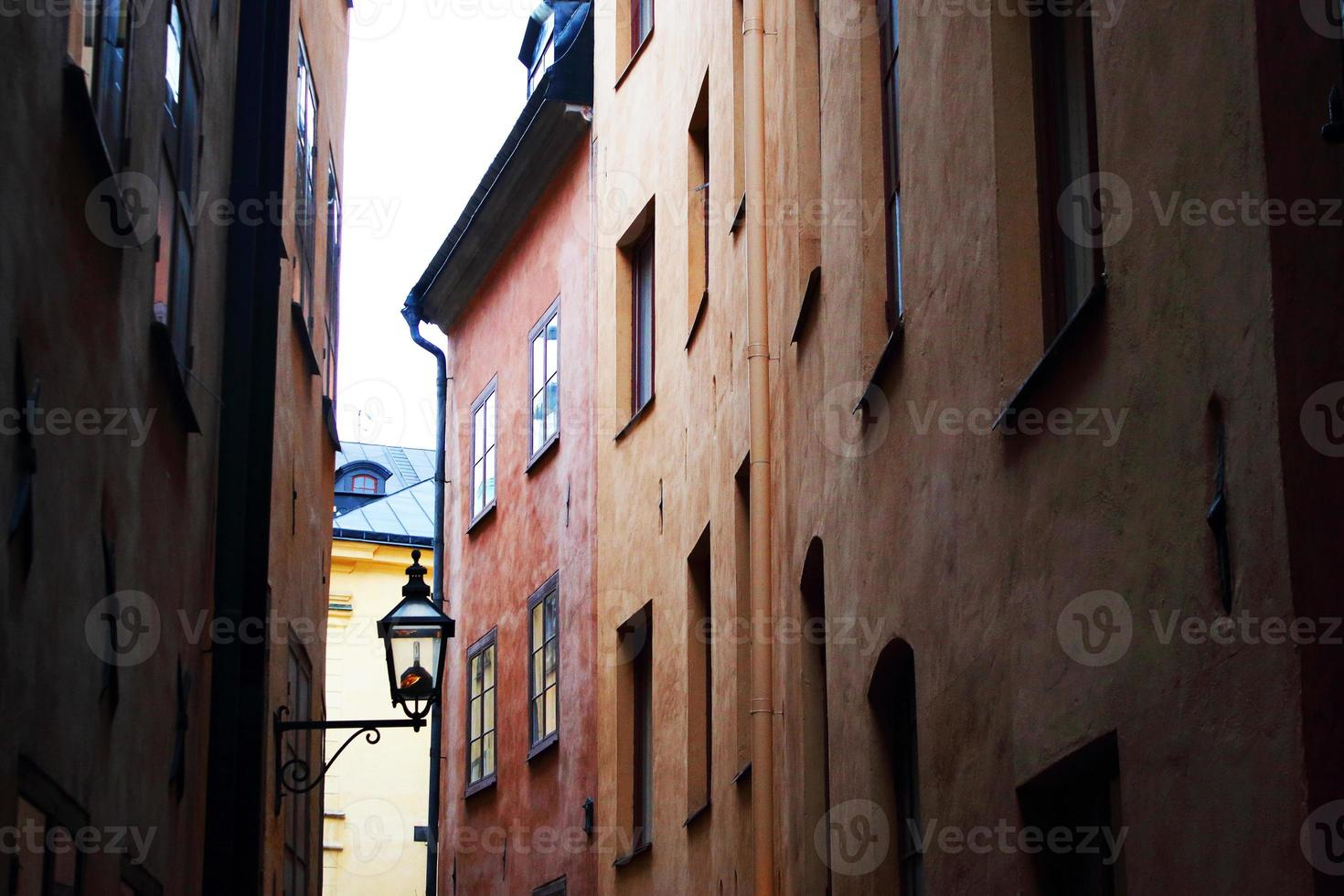 gamla stadsbyggnader foto