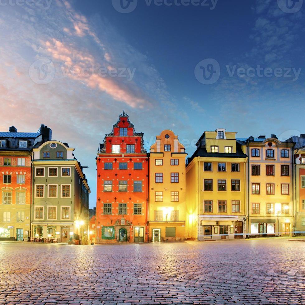 stockholm - stortorget plats i gamla stan foto