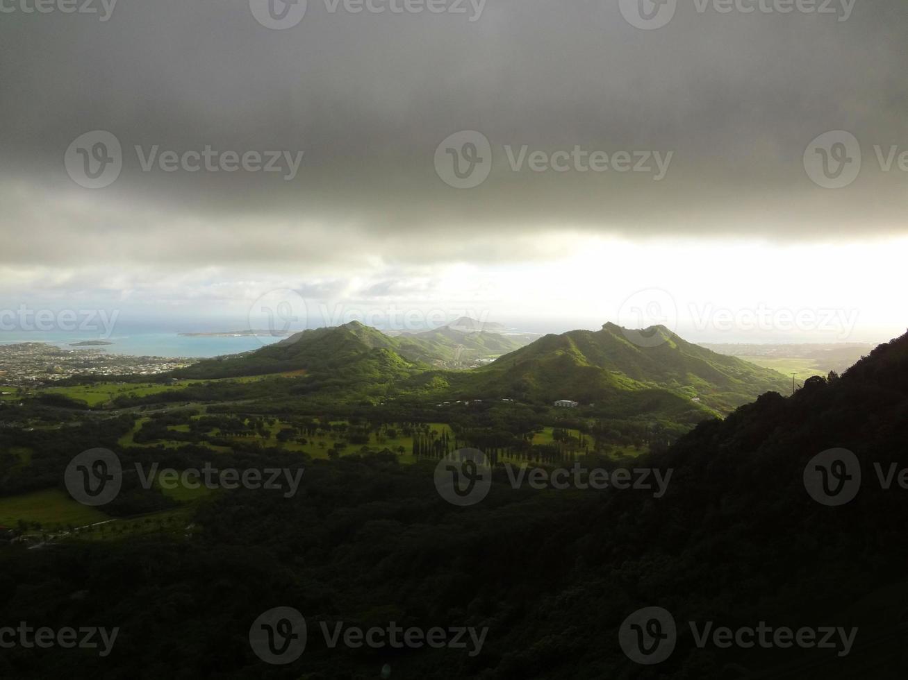 ö av oahu i hawaii foto