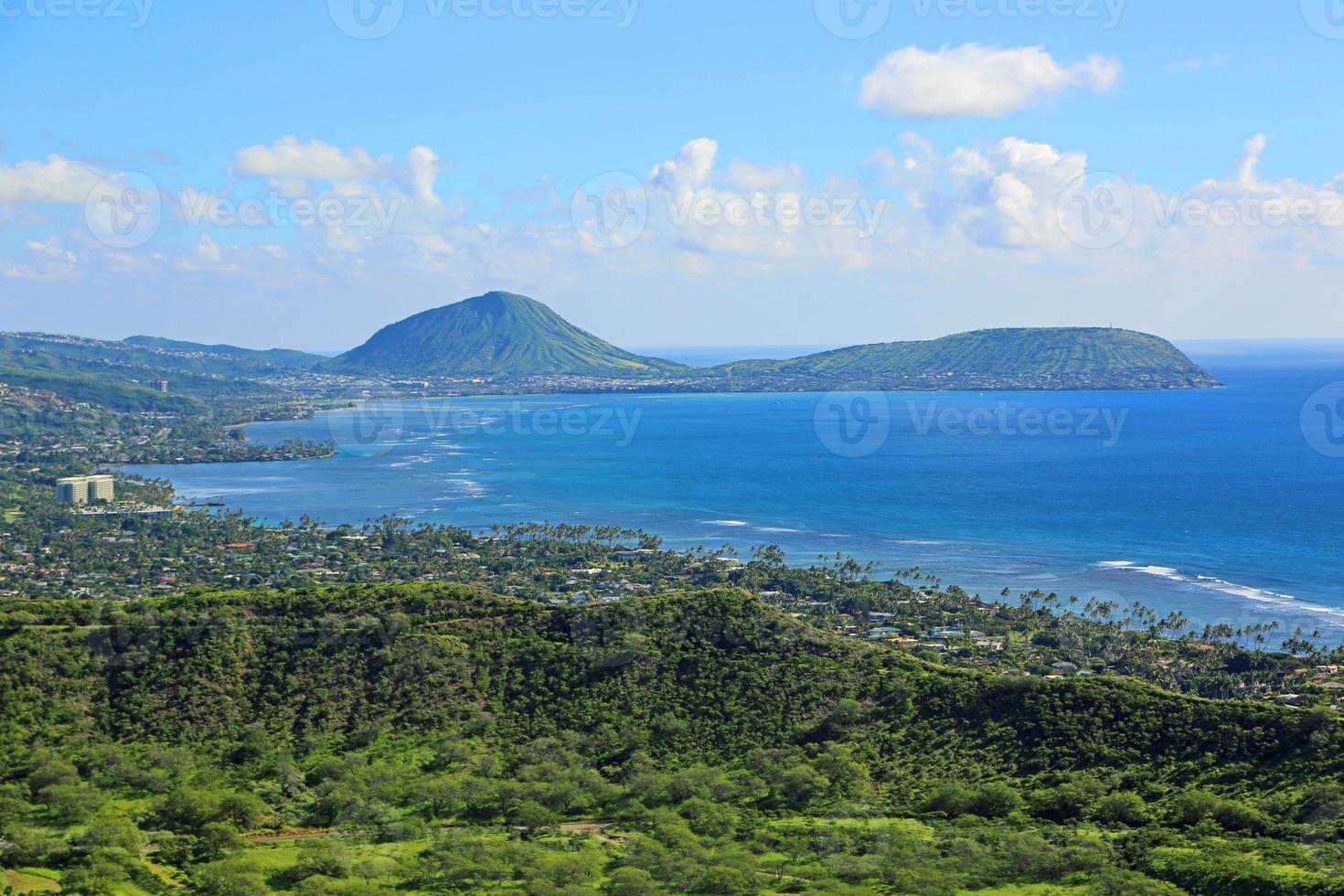 utsikt mot kokokrater från diamanthuvudet foto