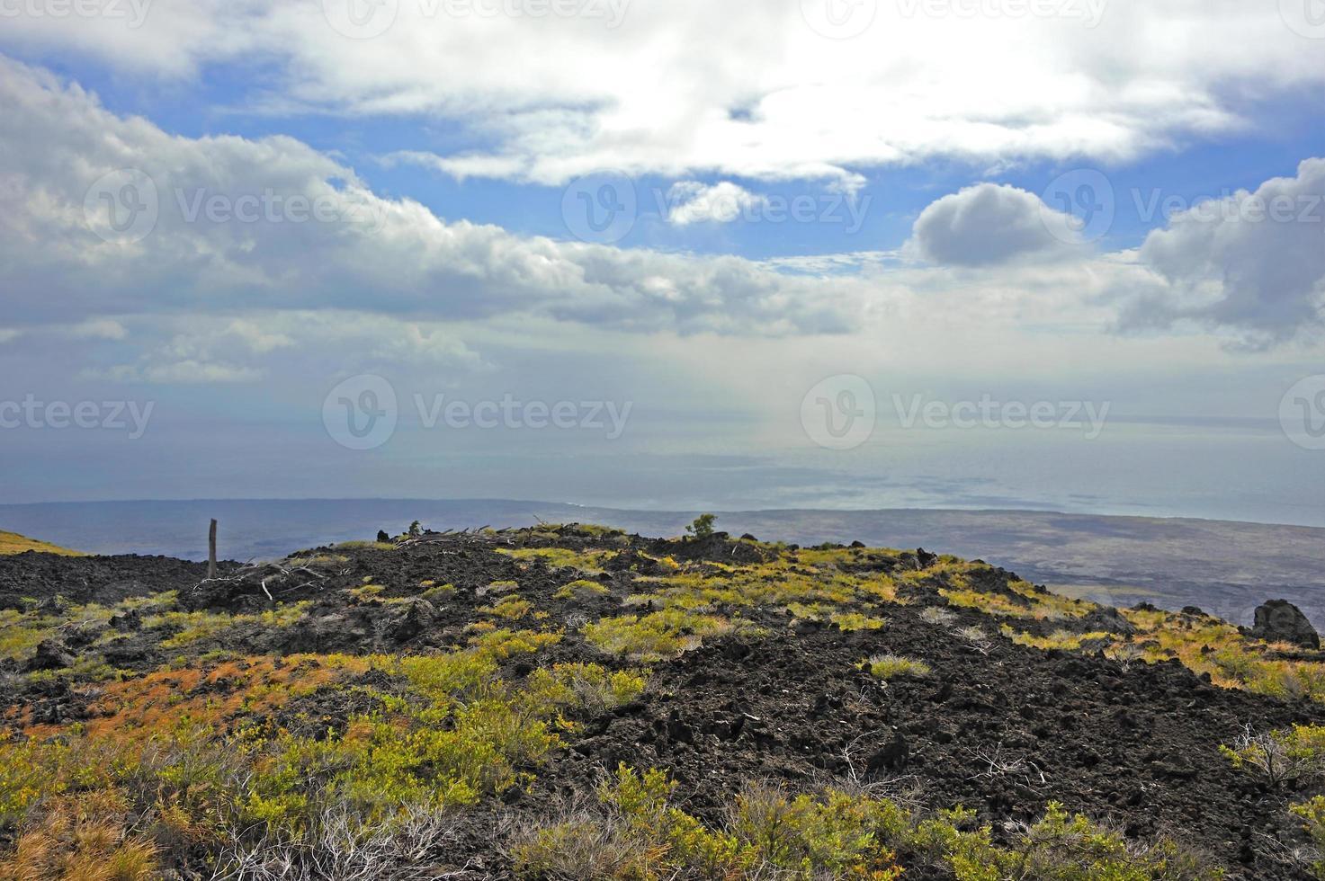 vulkanisk park, stor ö, hawaii foto