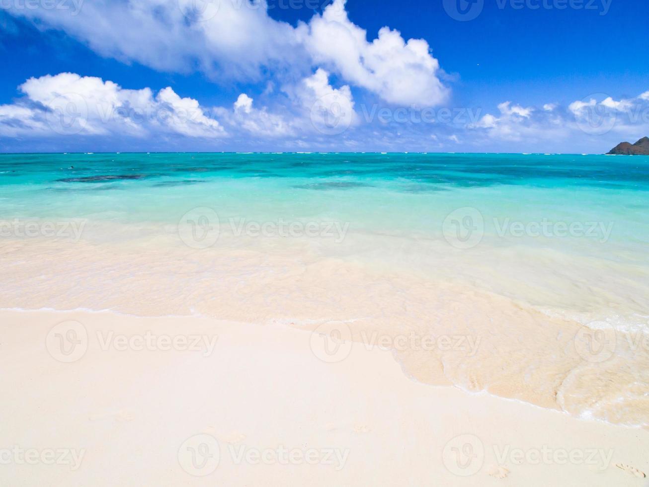 våg av lanikai stranden foto