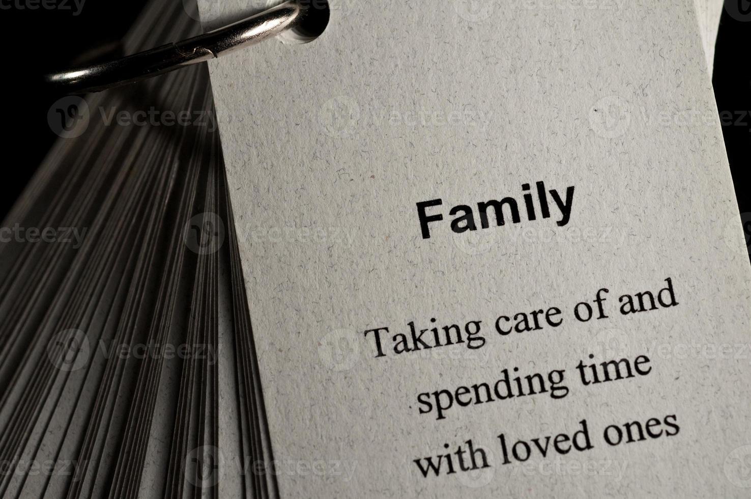familjens definition foto