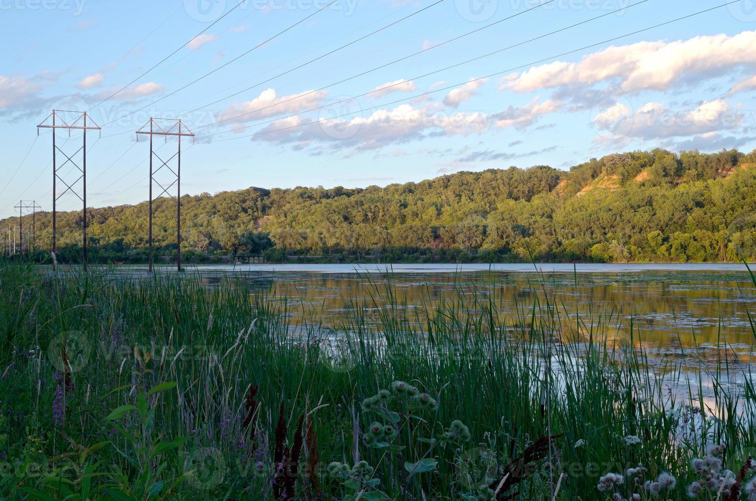 lilydale park och pickerel lake foto