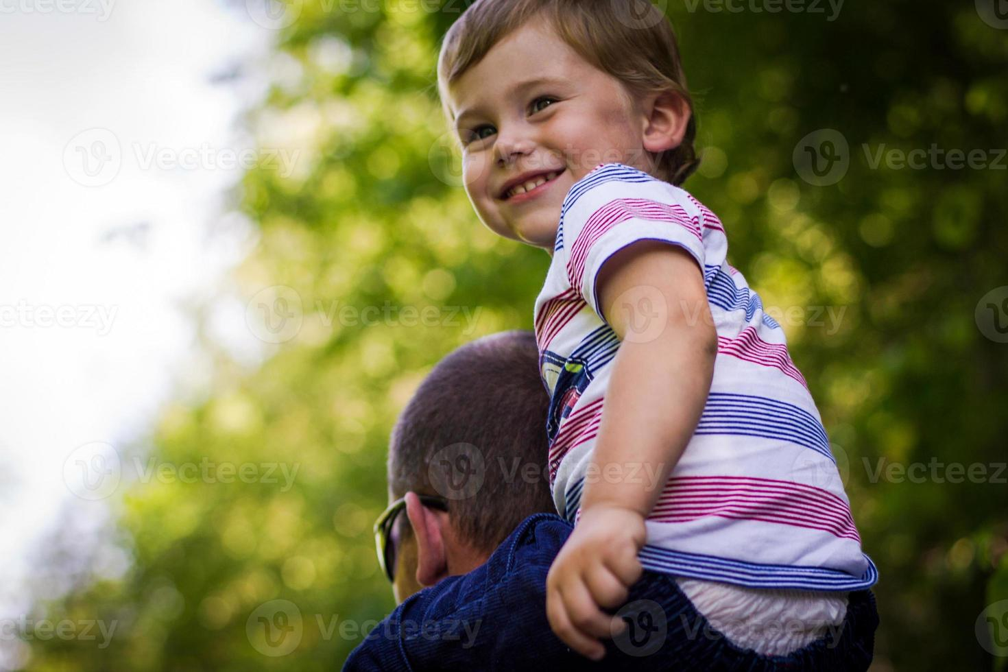 pappa och son foto