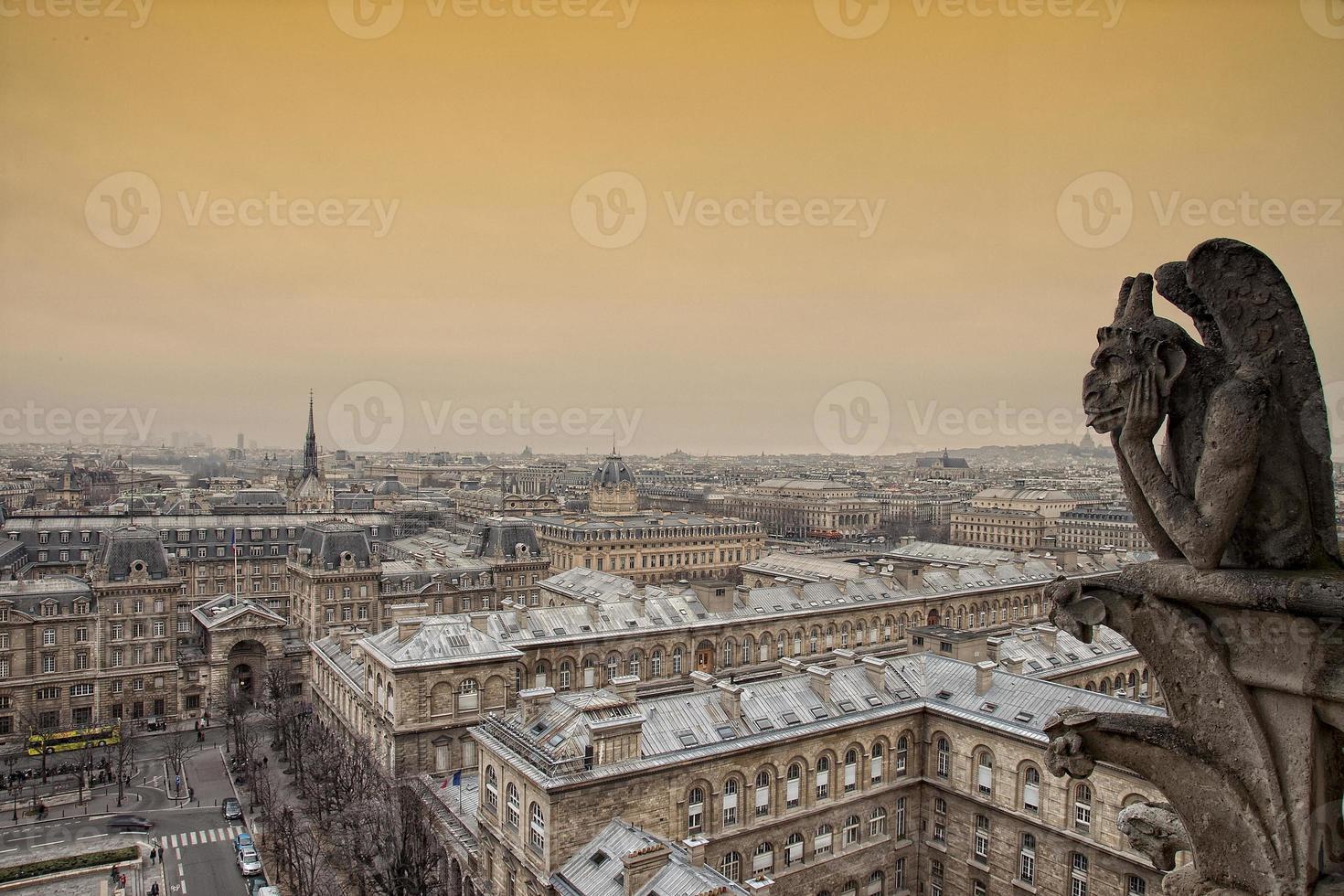 utsikt över Paris. foto