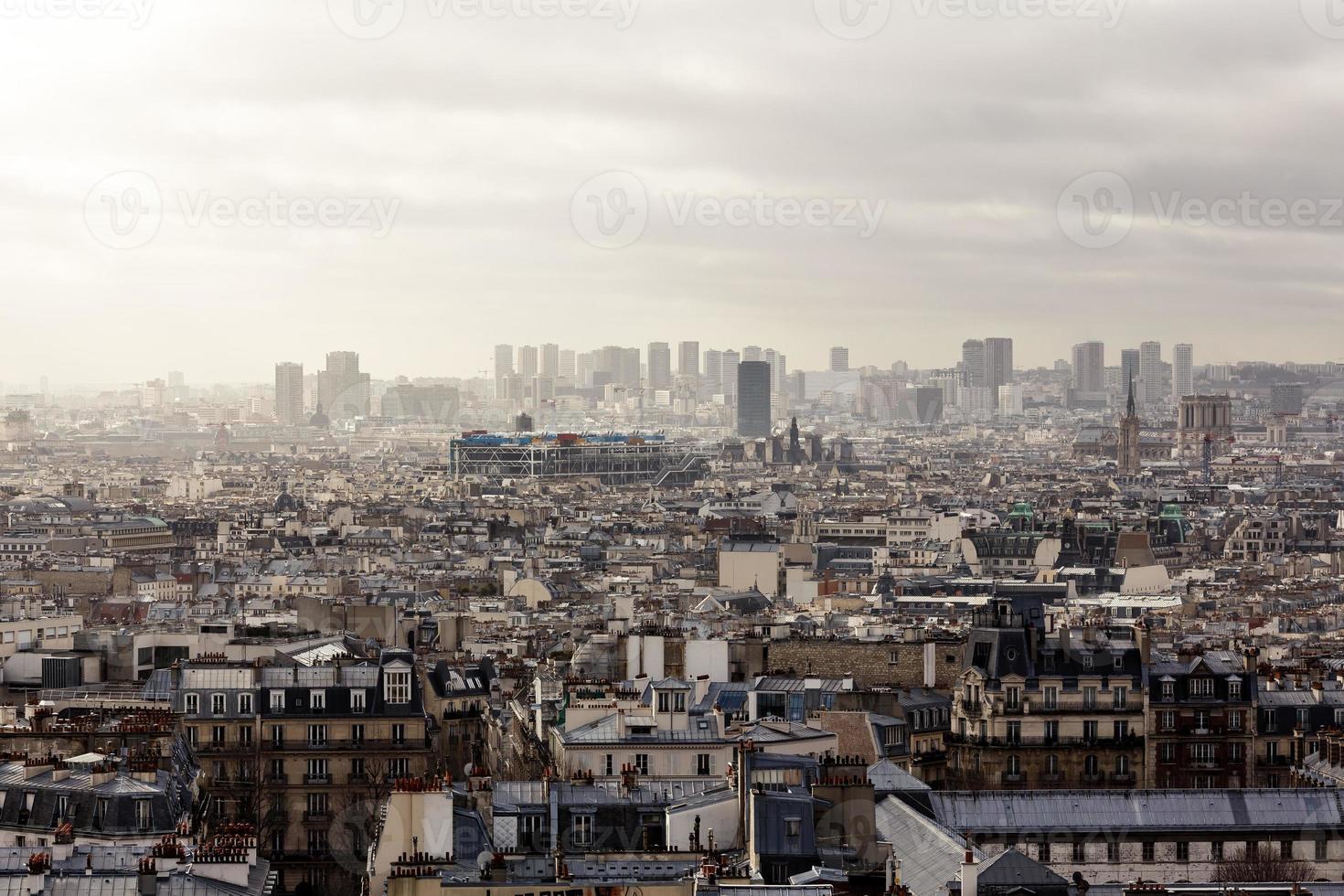 paris från Montmartre foto