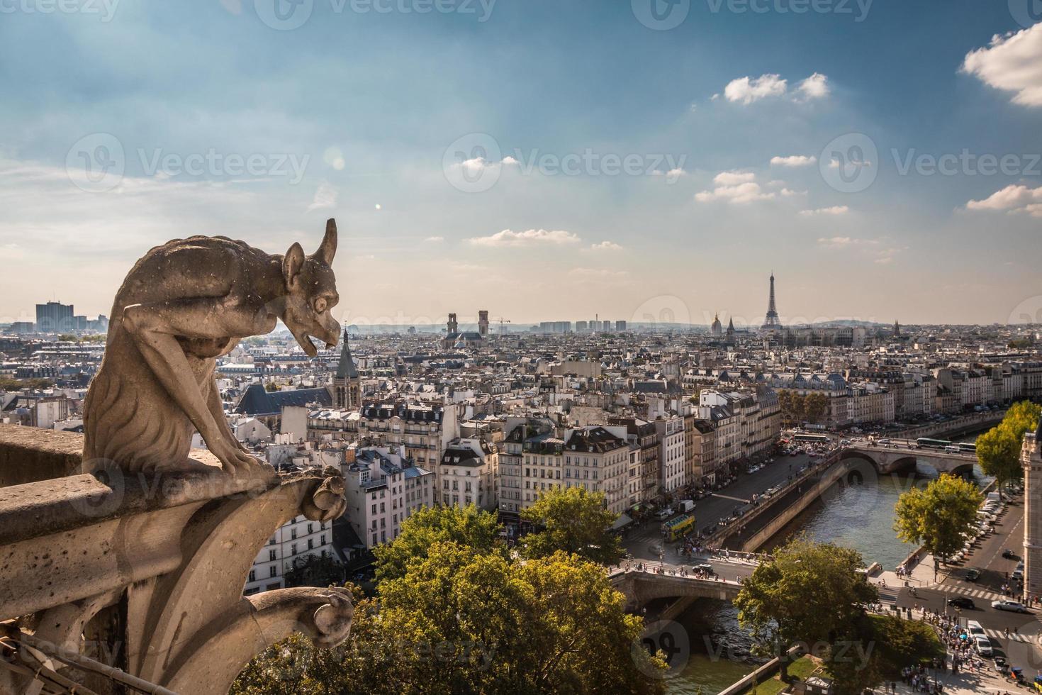utsikt över Paris Frankrike foto