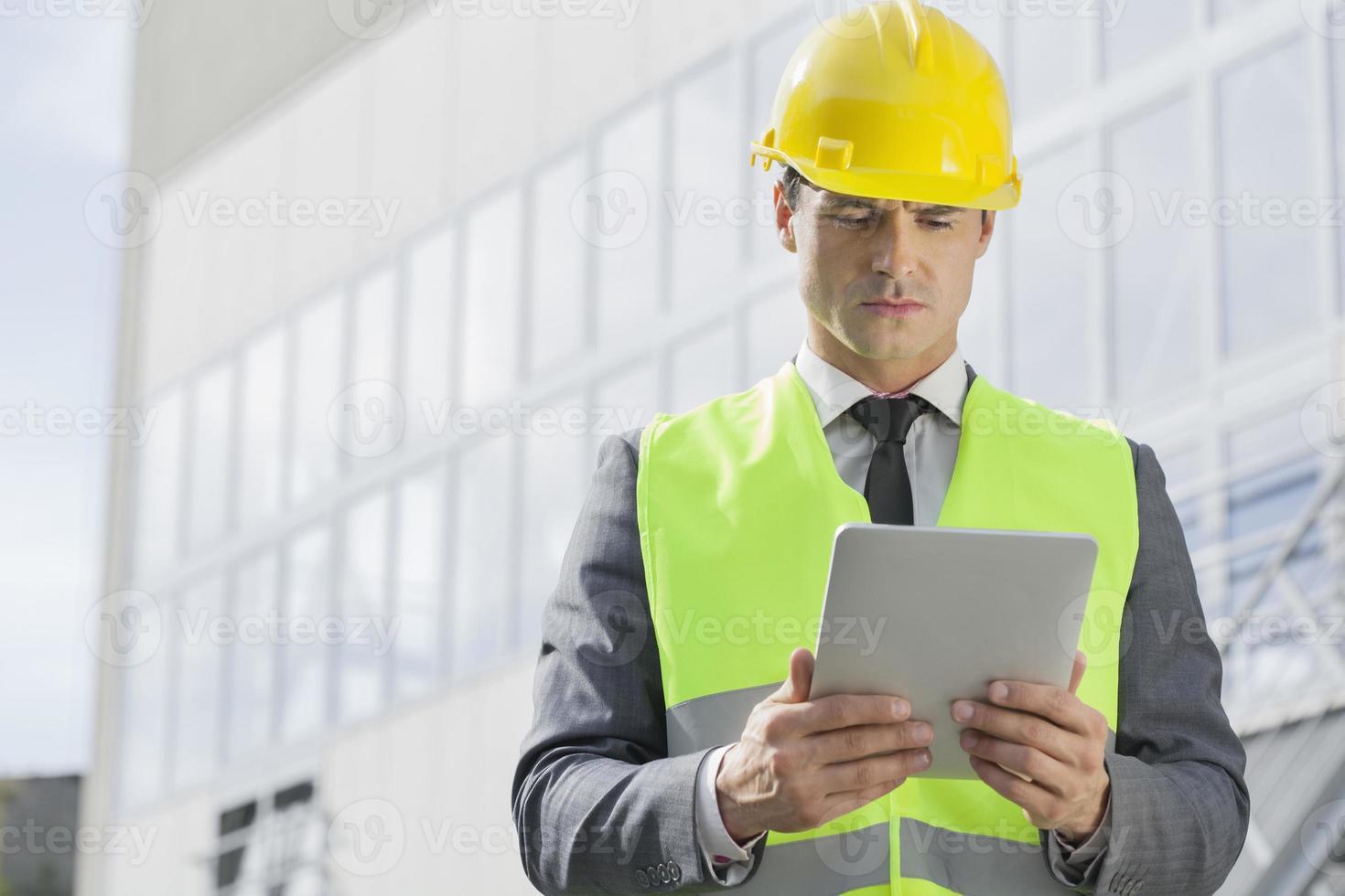 industriella ingenjörer på plats foto