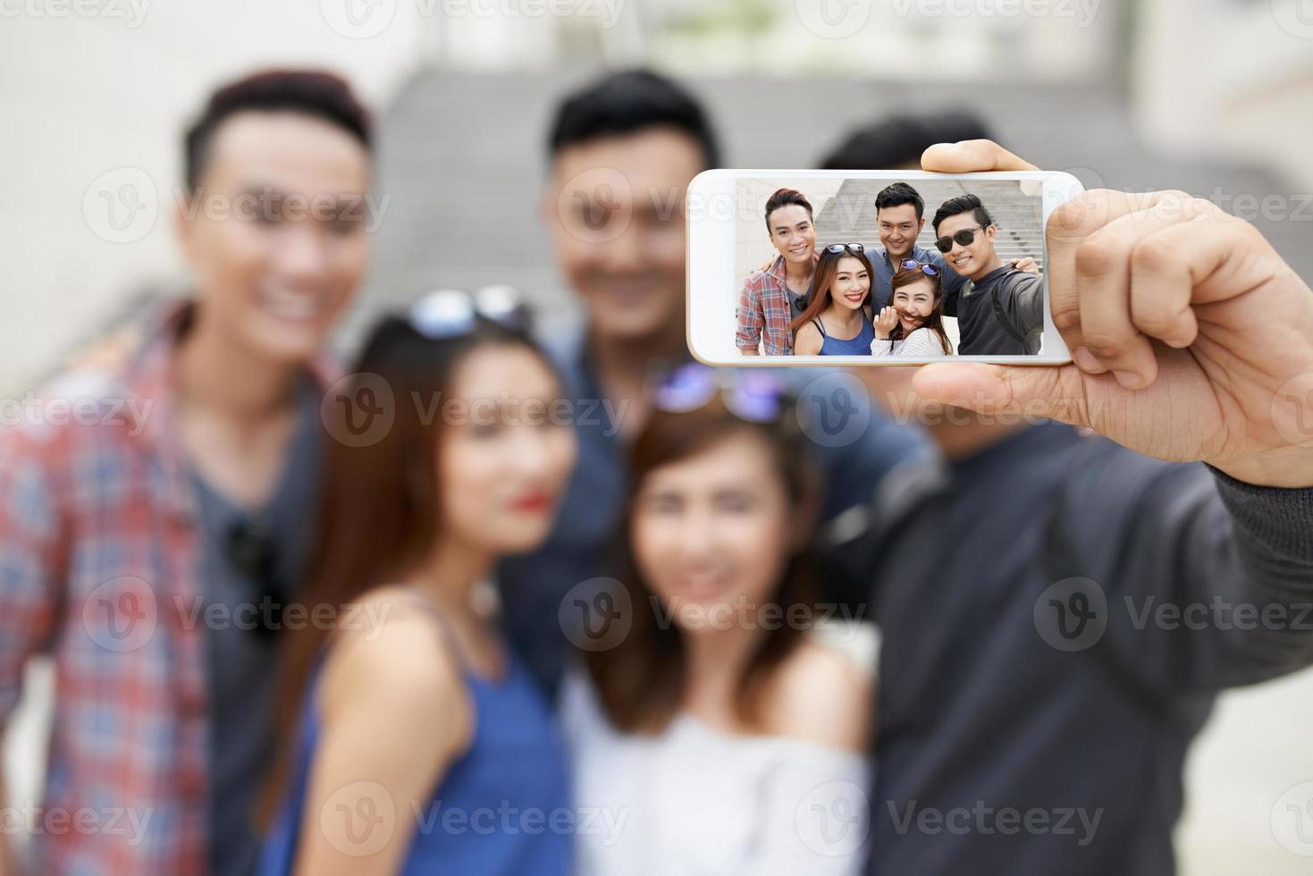 porträtt av vänner foto