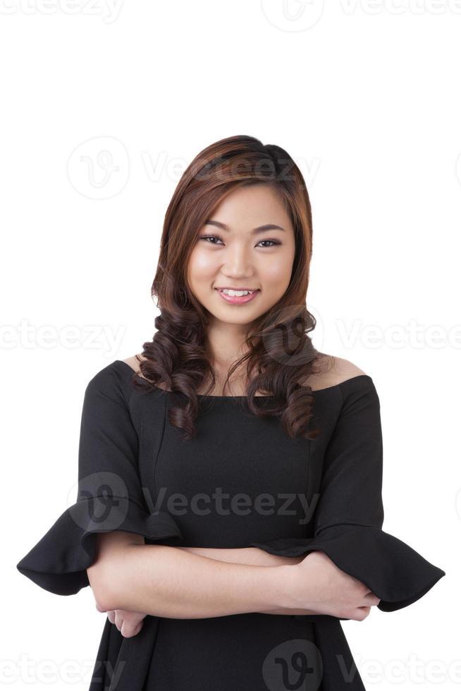 le affärskvinnastående foto