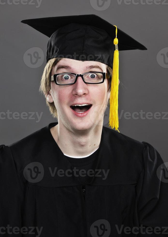 uttrycksfullt doktorand foto