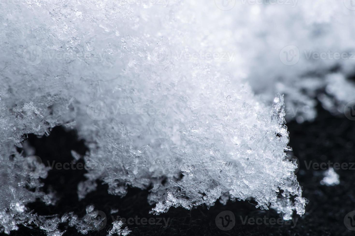 närbild snö foto