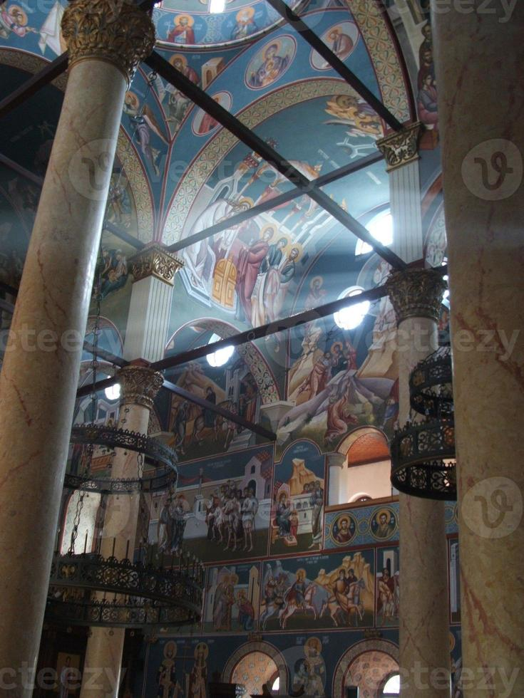kyrkans inre i nis, serbien foto