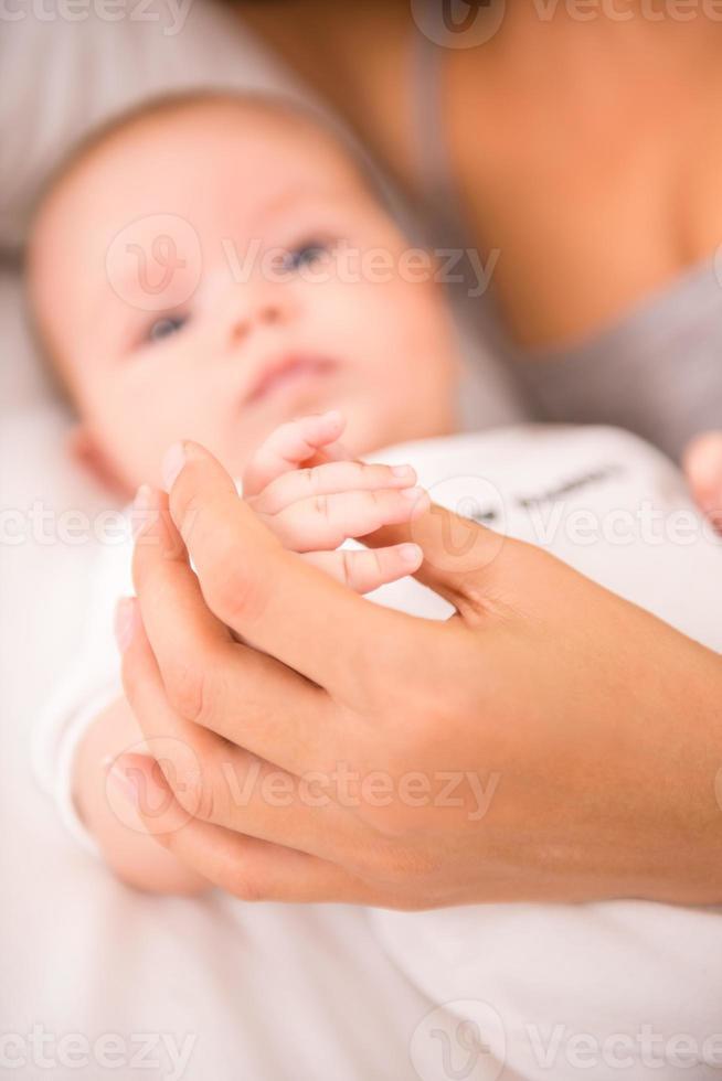 mamma och bebis foto