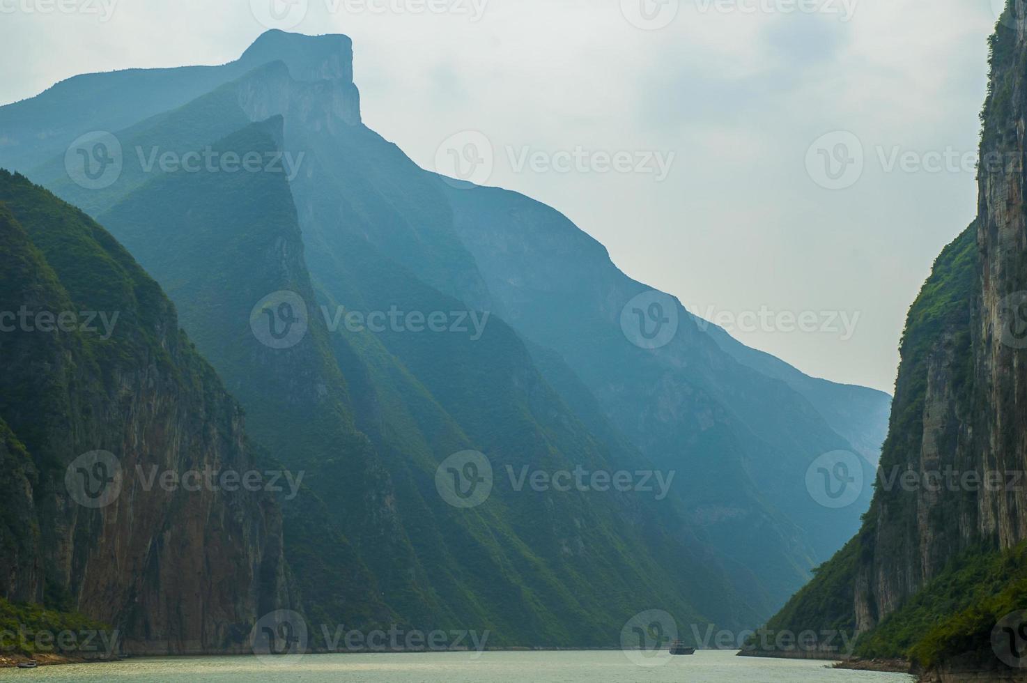 tre raviner, yangtze-floden foto