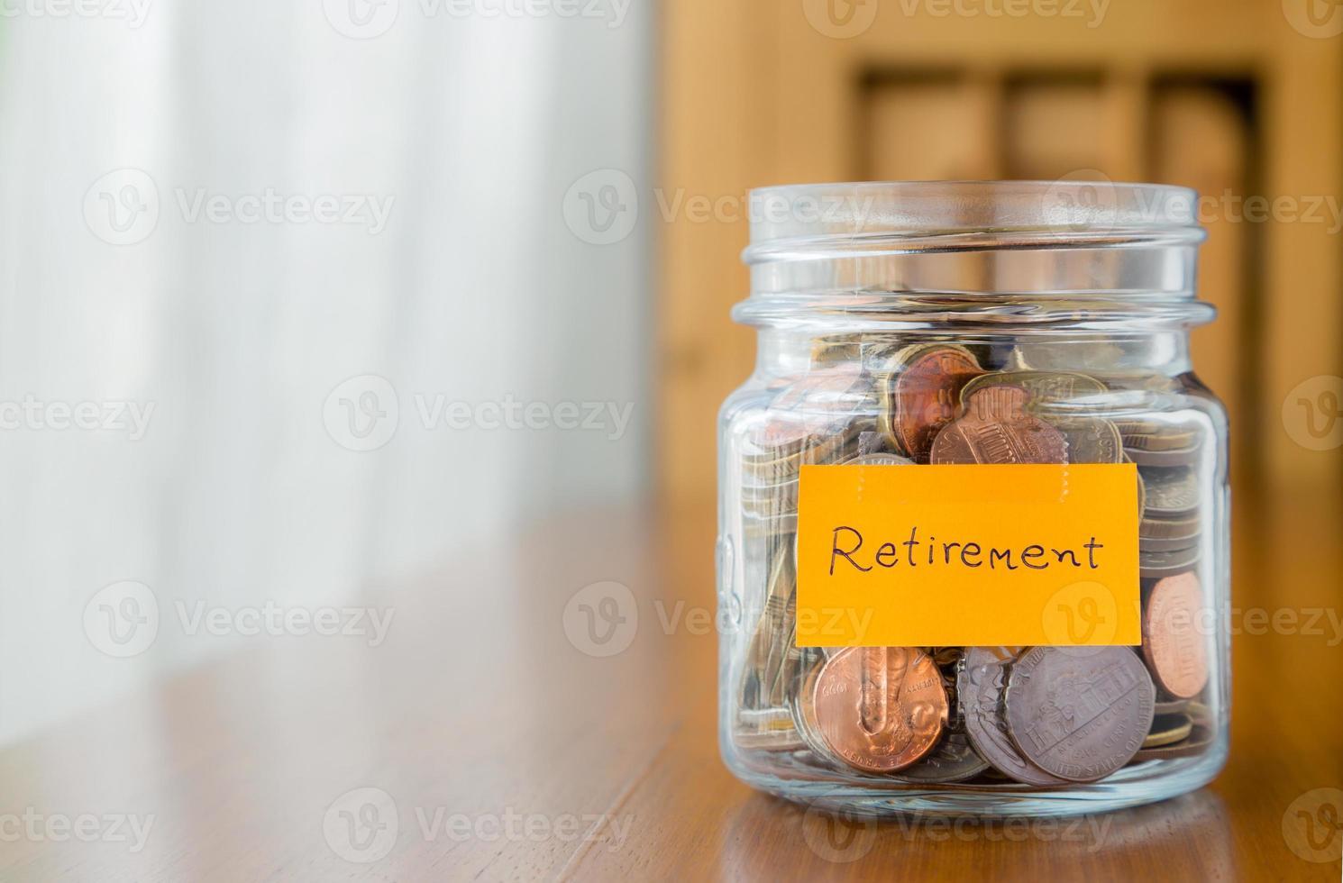 ekonomisk plan för att spara pensions pengar foto