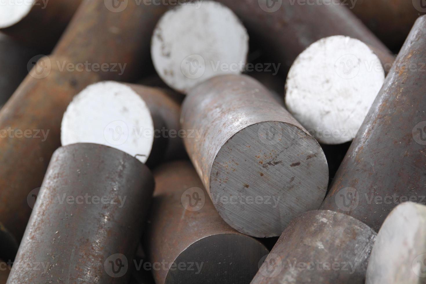 rund billet av metall foto