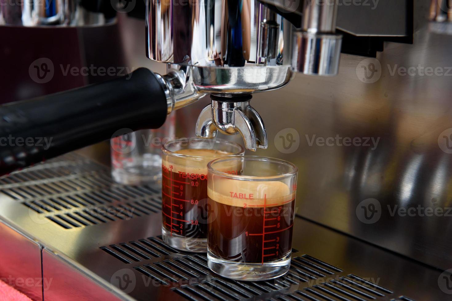 process för beredning av kaffe foto