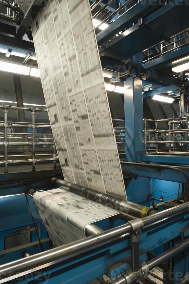process för tidningsproduktion foto