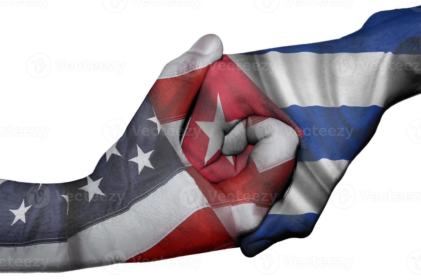 handskakning mellan USA och Kuba foto