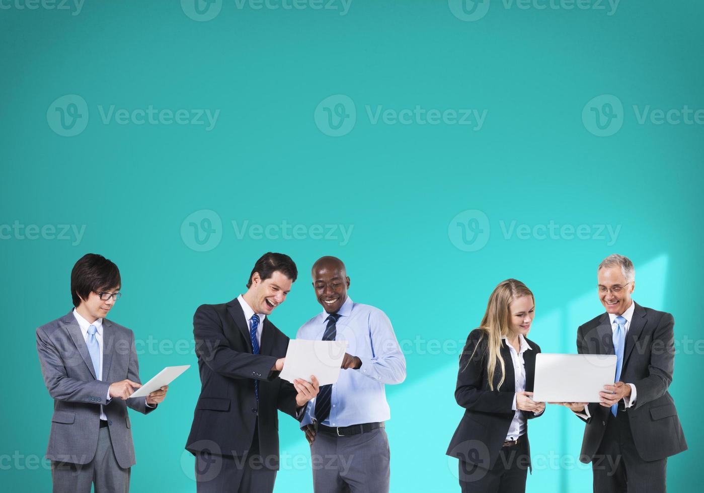 affärsfolk teknik nätverk anslutning team koncept foto