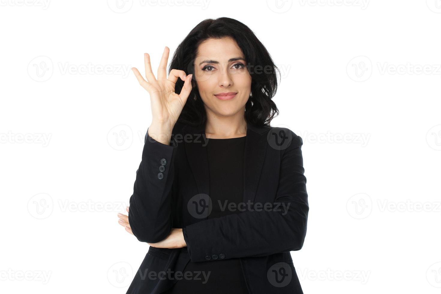 ung affärskvinna foto