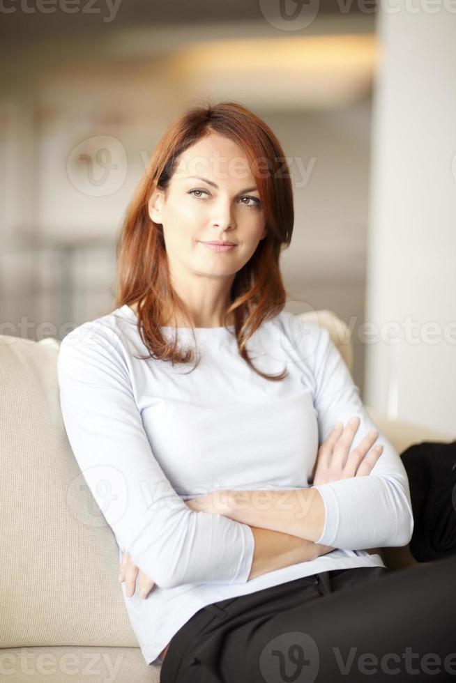 mogen kvinna porträtt foto
