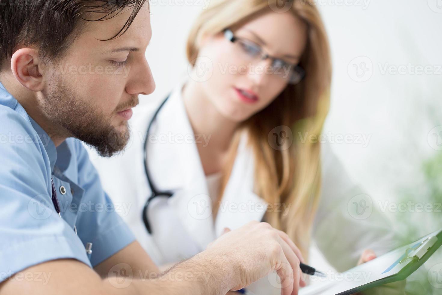 närbild av läkare foto