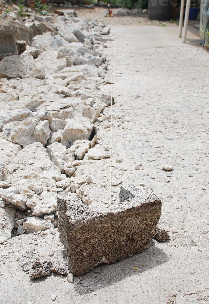 brisblock på konstruktionsplatsen foto