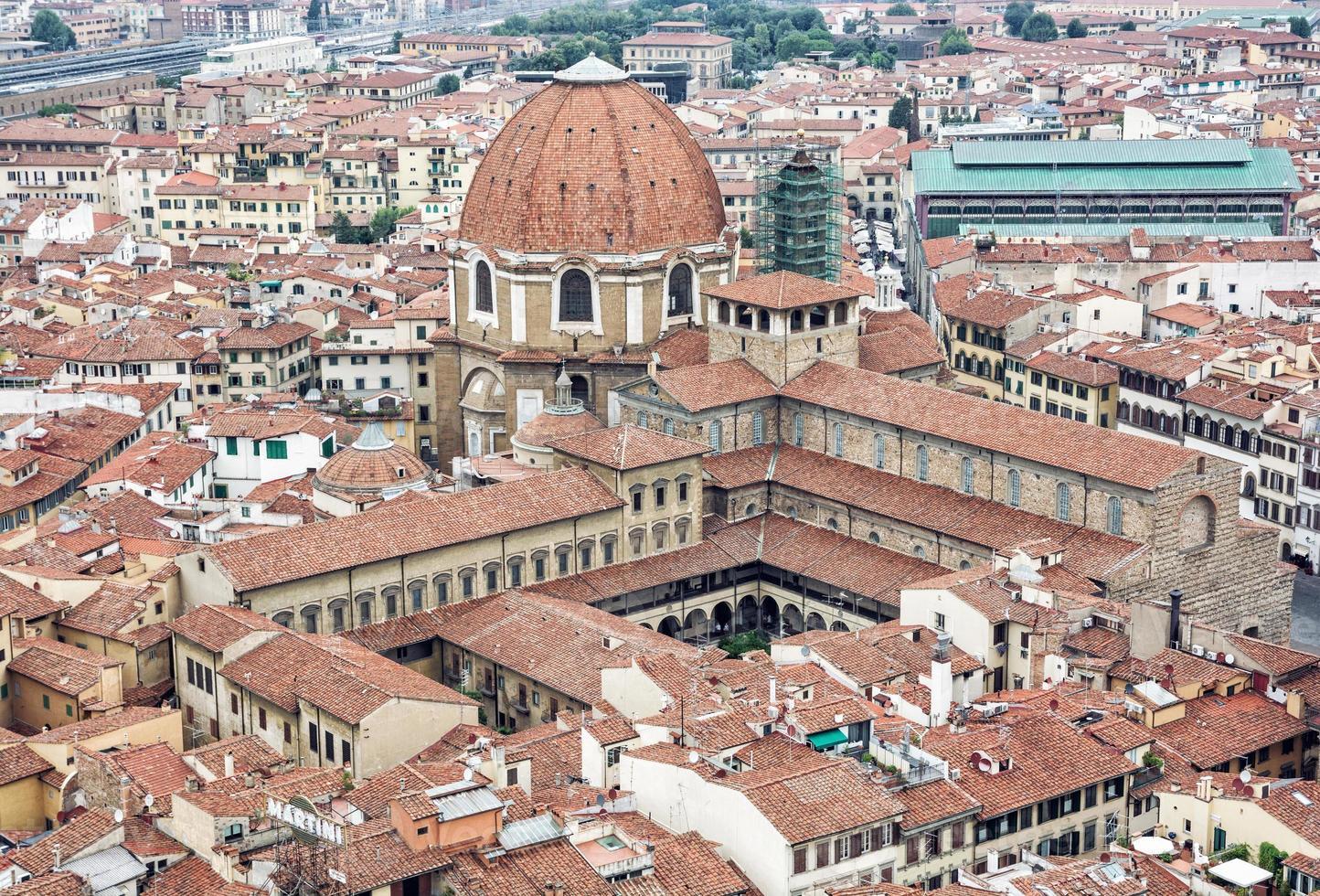 basilikan San Lorenzo, Florens, Italien, kulturarv foto