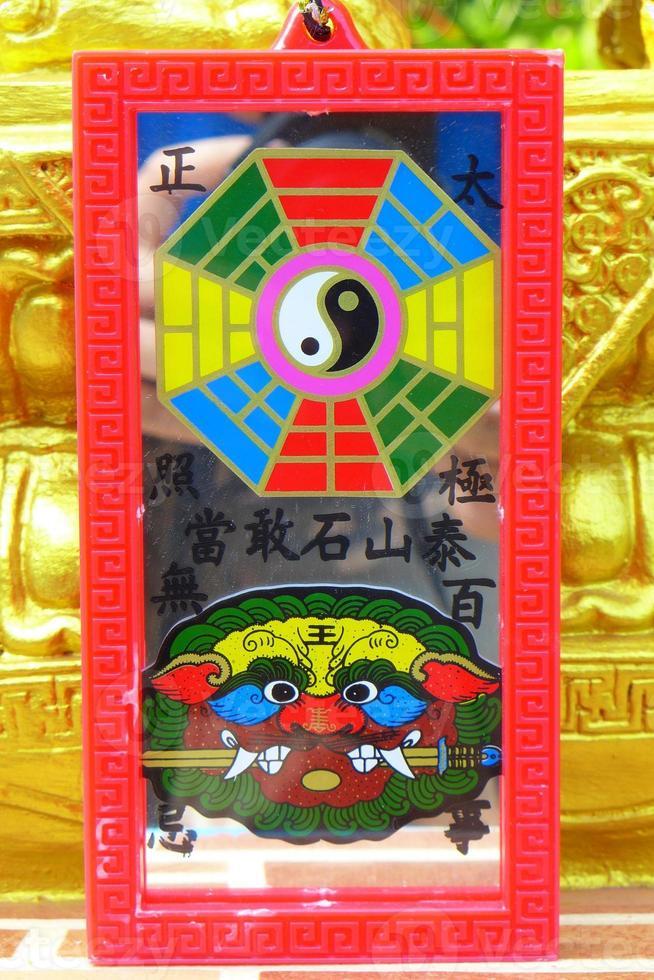 kinesisk talisman. foto