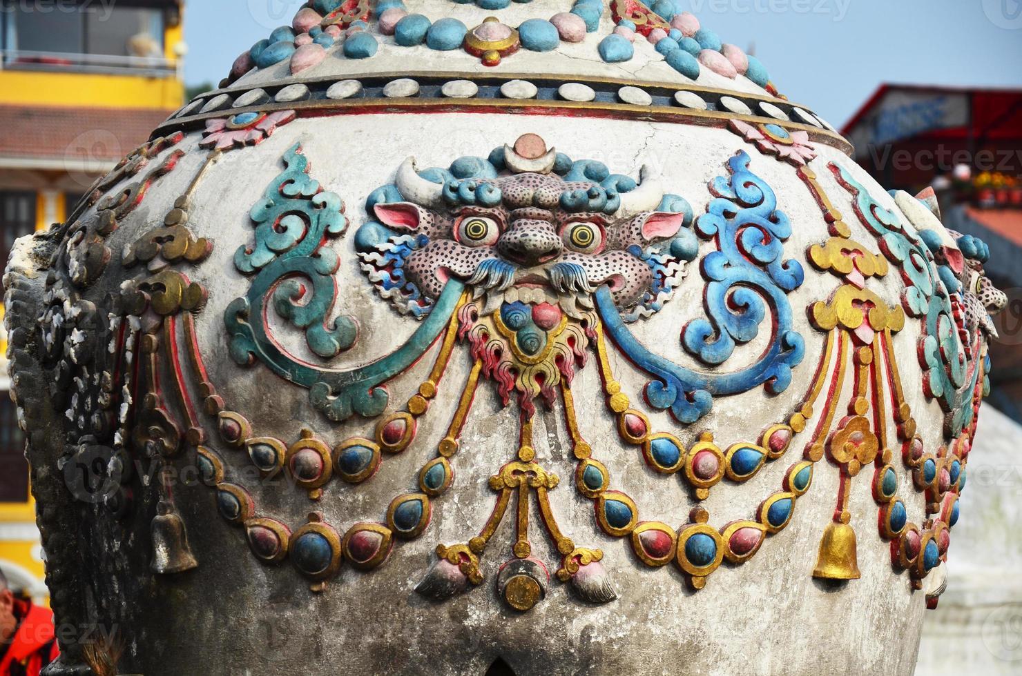 skulptur och snida konst nepal stil foto