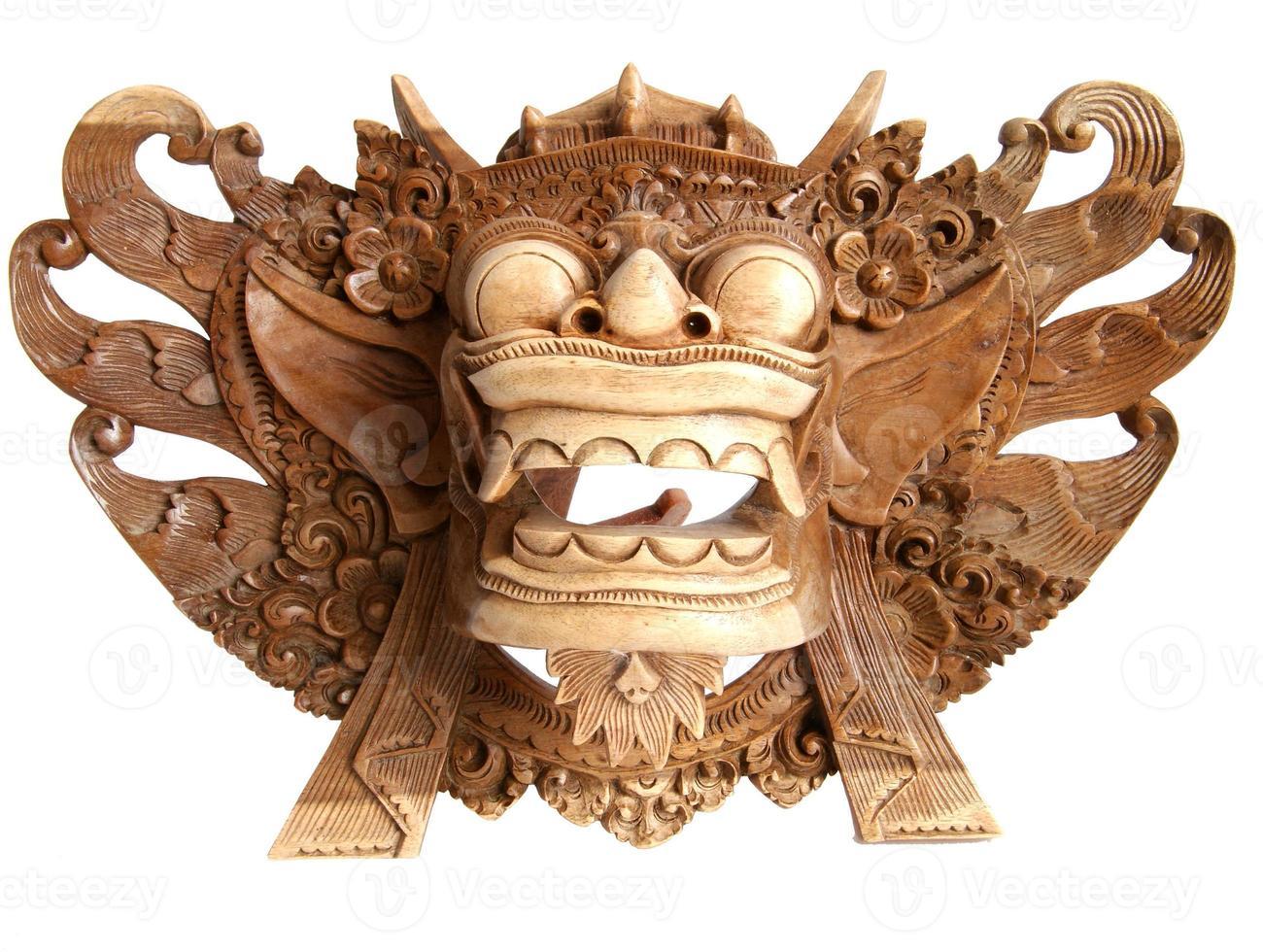 traditionell indonesisk (balinesisk) mask-souvenir foto