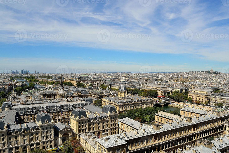 horisont av paris foto