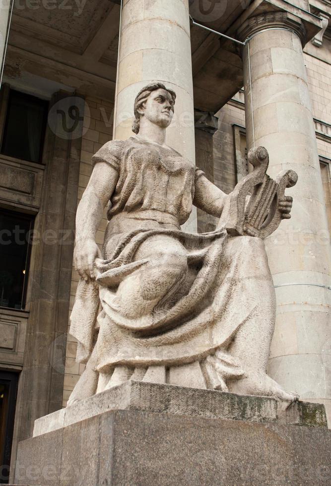 monument på palatset kulturen en vetenskap foto