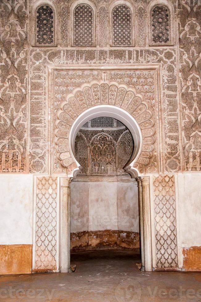 dörrdekoration i Marrakech, Marocko foto