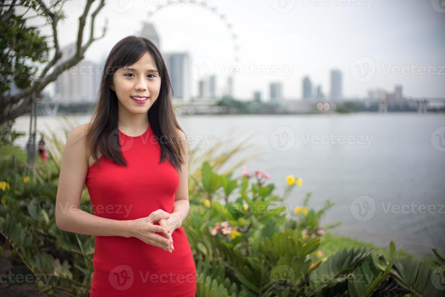 asiatisk modell foto