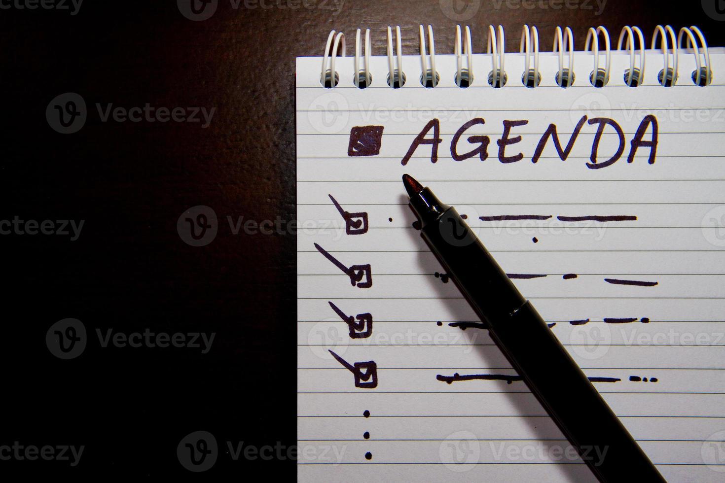dagordning i mötet foto