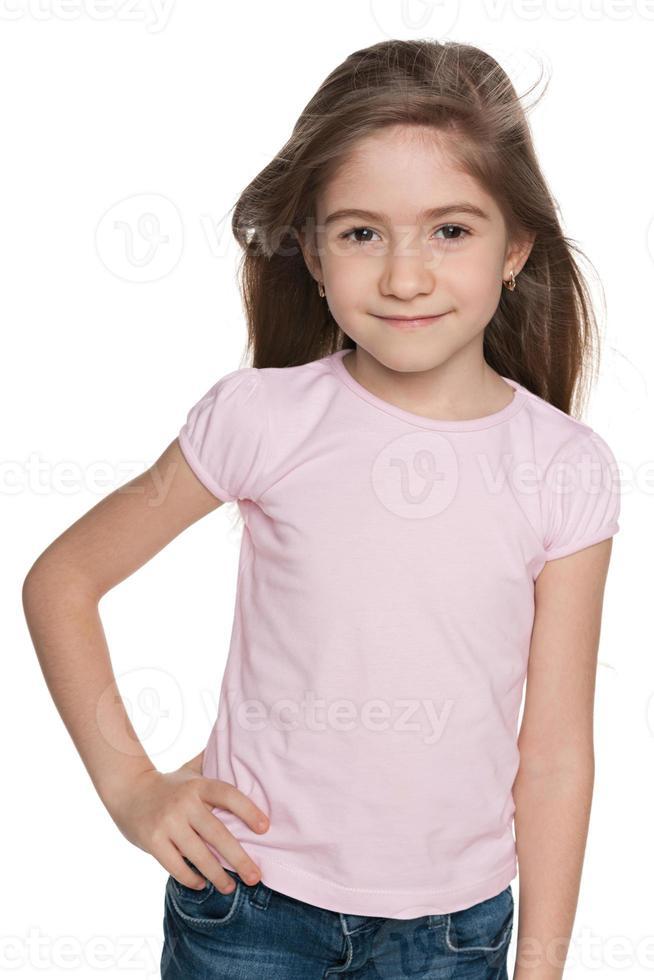 glad mode liten flicka foto