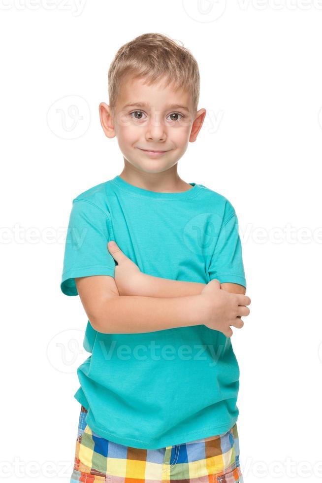 leende liten pojke foto