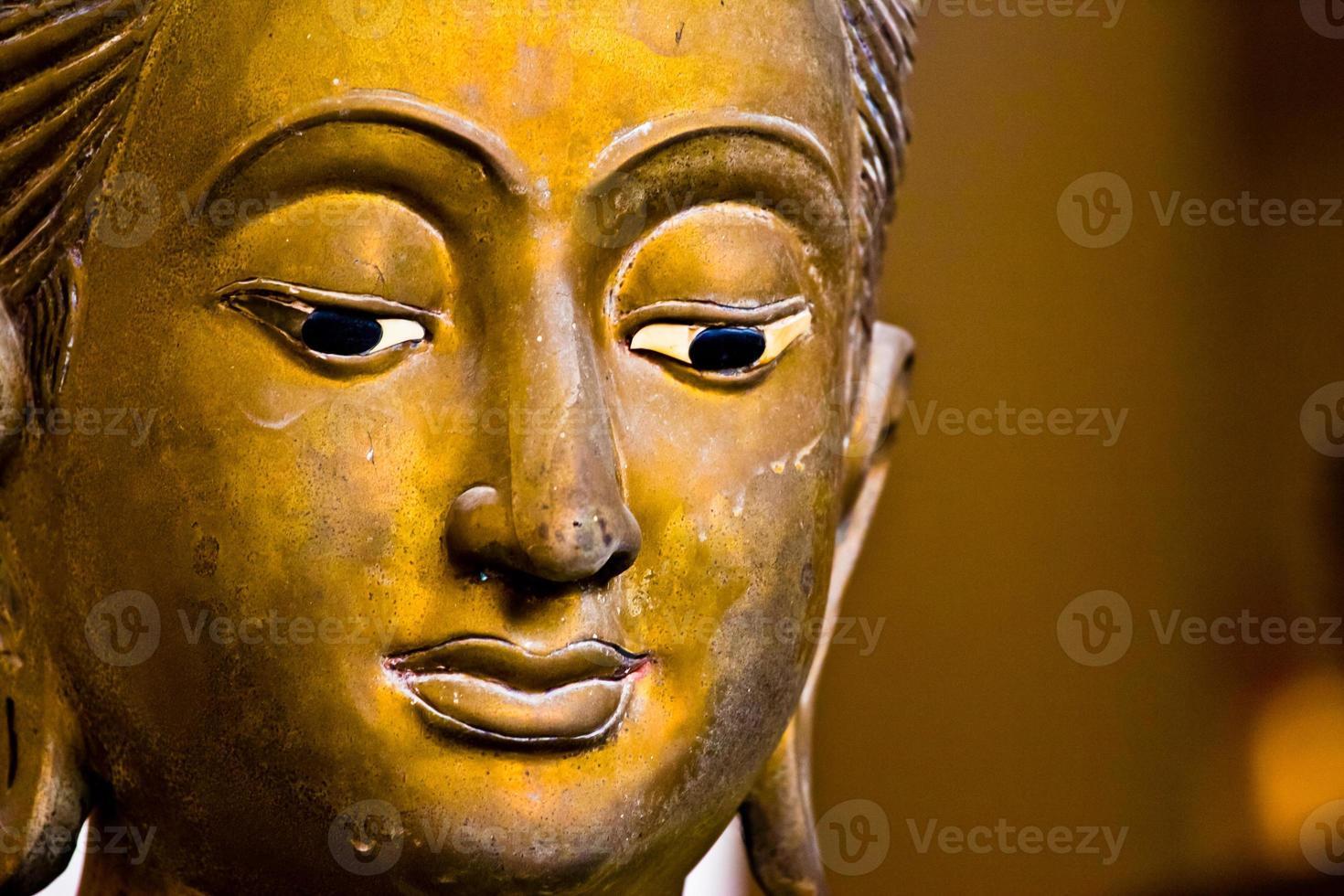 forntida buddha ansikte, ayutthaya, Thailand foto