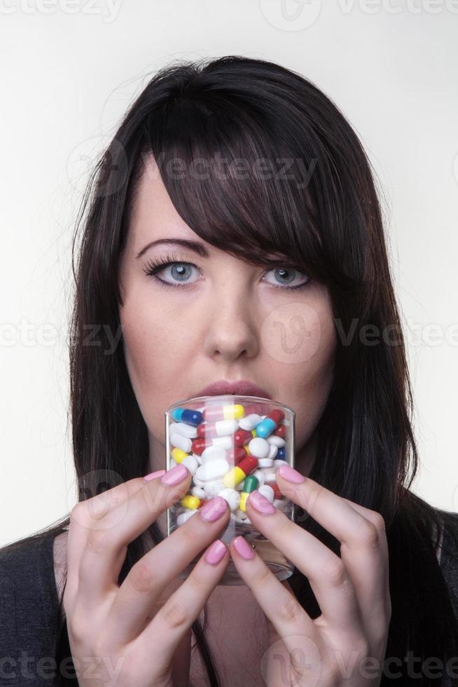 dricka piller foto