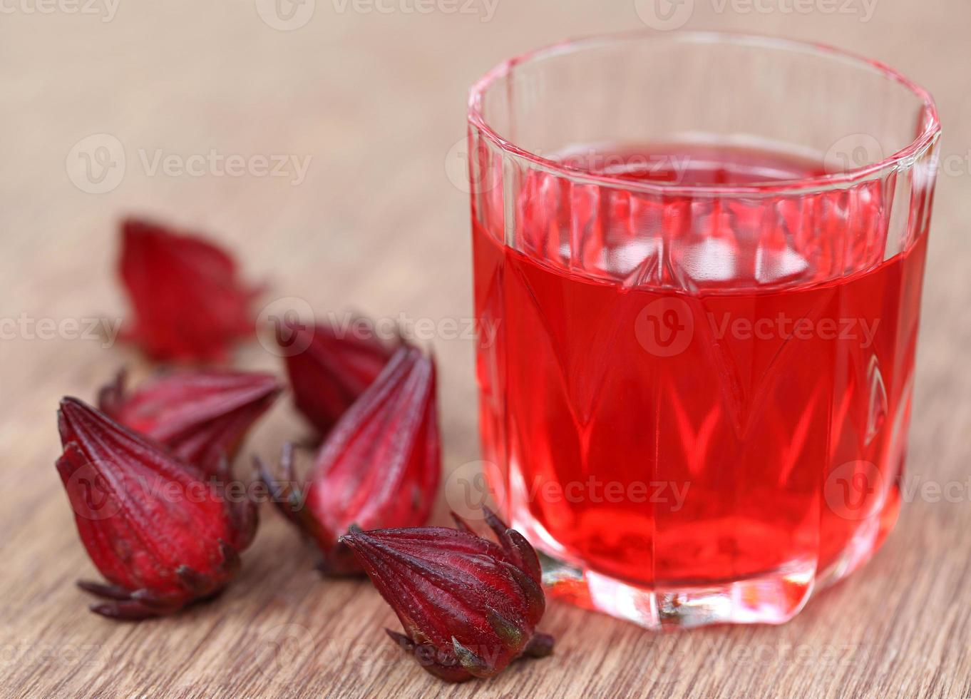 roselle med dryck foto