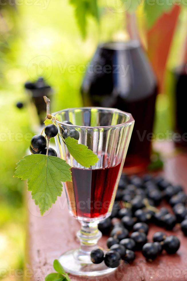 drink av svarta vinbär foto