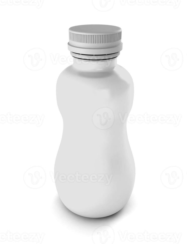 vit flaska för dryck foto